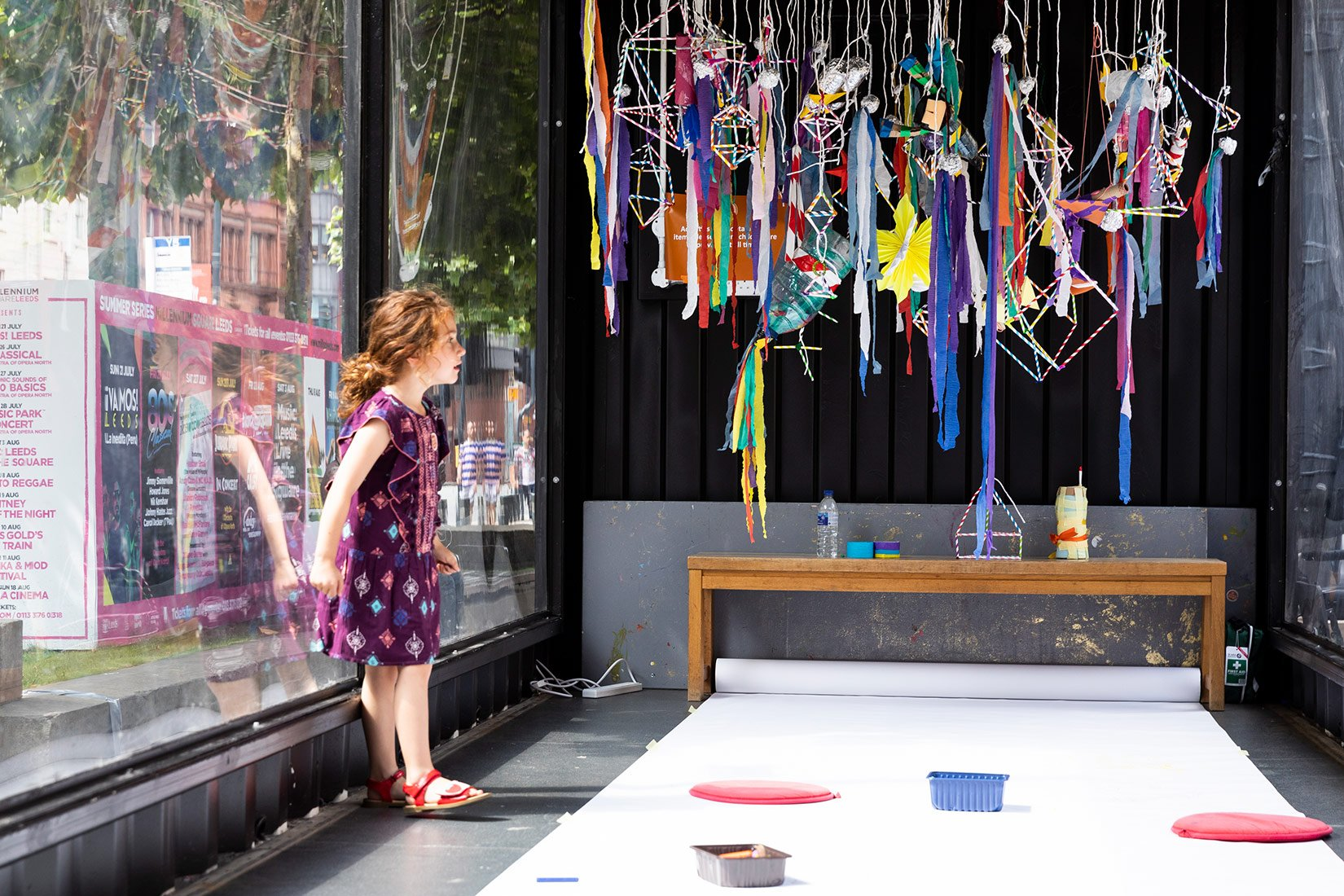 Create, Sculpt, Play 2019, outside Victoria Gardens, Leeds, Inside the installation - Photograph by Nicholas Singleton