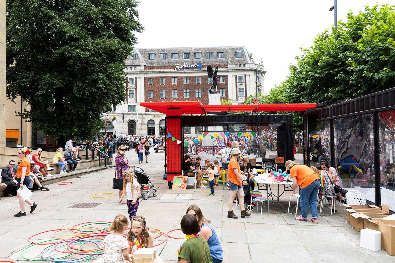 Create, Sculpt, Play 2019, outside Victoria Gardens, Leeds Photograph by Nicholas Singleton