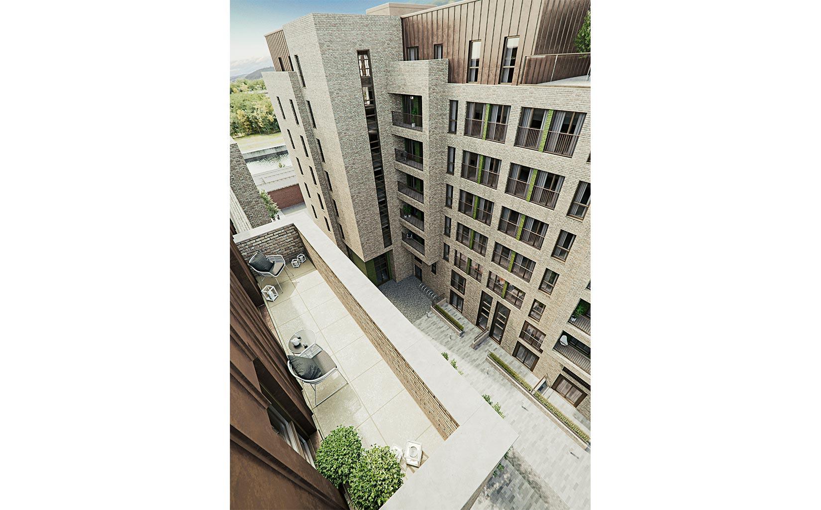 Dye Works, Worrall Street, Ordsall, Salford, 3D Aerial