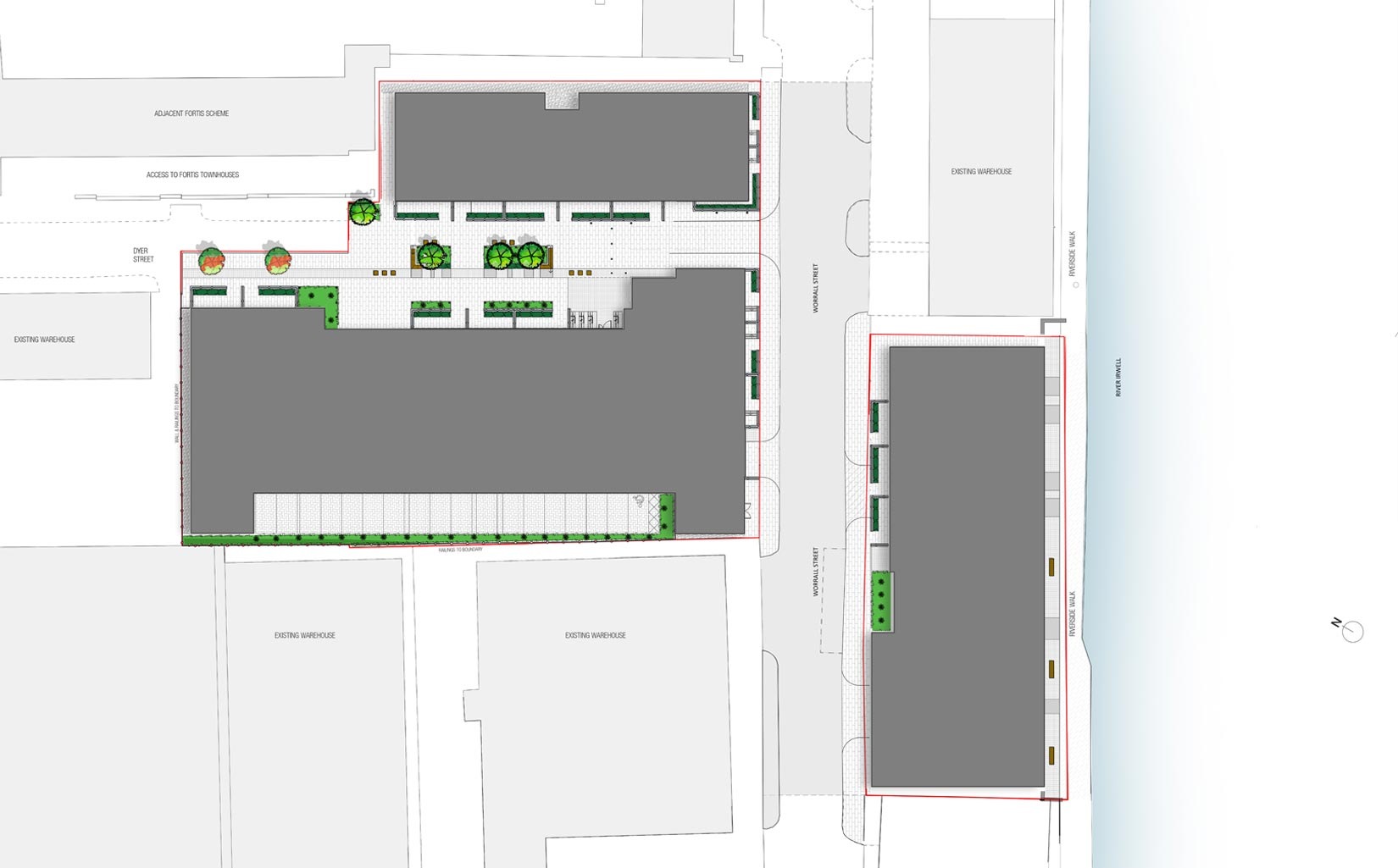 Dye Works, Worrall Street, Ordsall, Salford, Site Plan