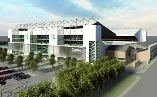 Elland Road, Leeds United, 3D Visual of proposed West Stand
