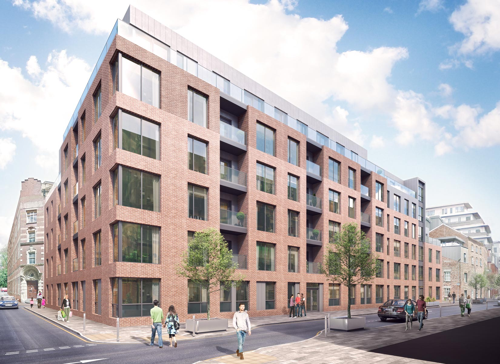 Halo, Simpson Street, Manchester, 3D Visual view towards Halo, Simpson Street
