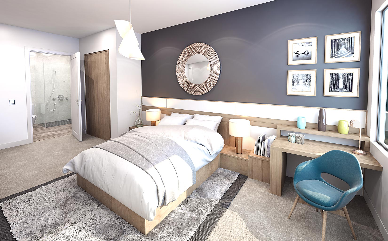 Halo, Simpson Street, Manchester, 3D Visual of Bedroom