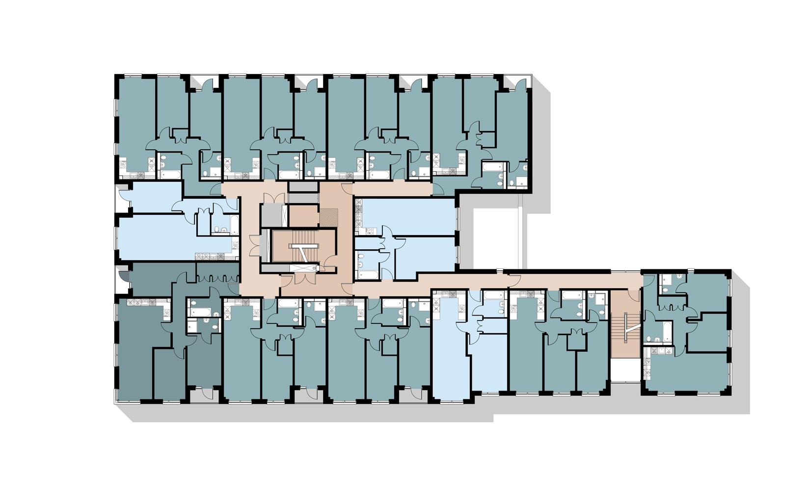 Halo, Simpson Street, Manchester, Second Floor Plan
