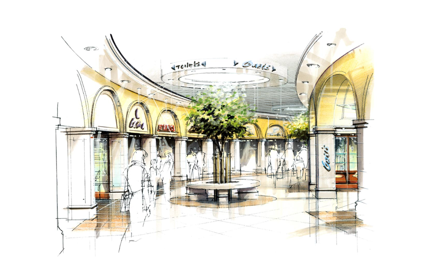 Meadowhall, Sheffield, Sketch Concept