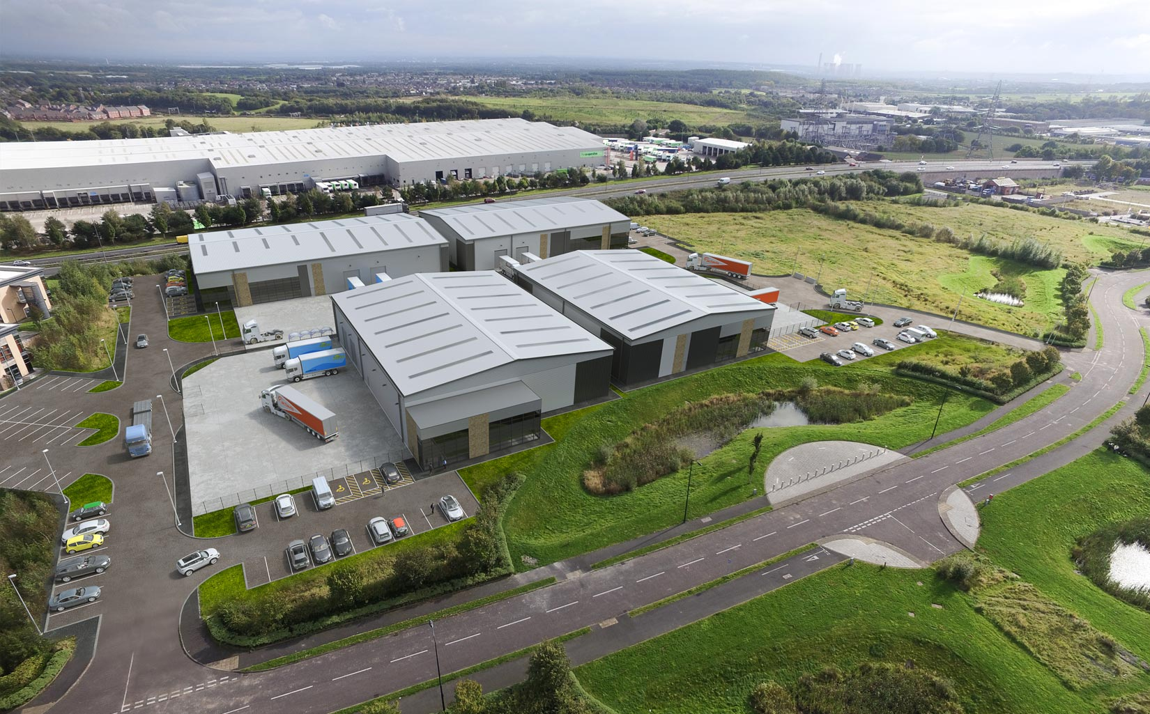 Mere Grange, St Helens, 3D Aerial Visual