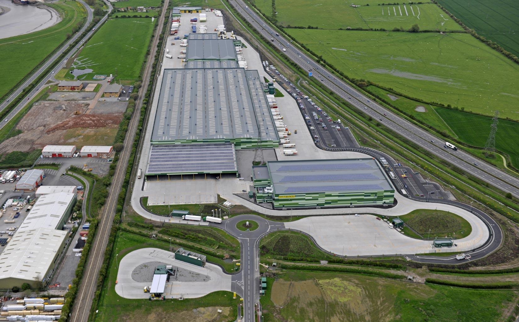 Morrison Distribution Centre, Bridgwater, Aerial