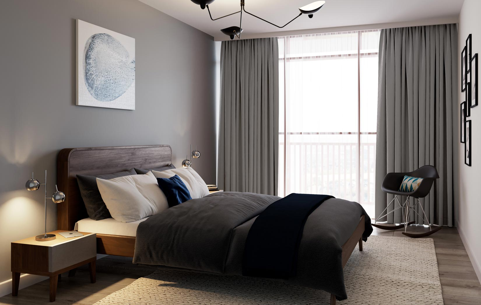 River Plaza, Derwent Street, Salford, 3D Visual of the bedroom