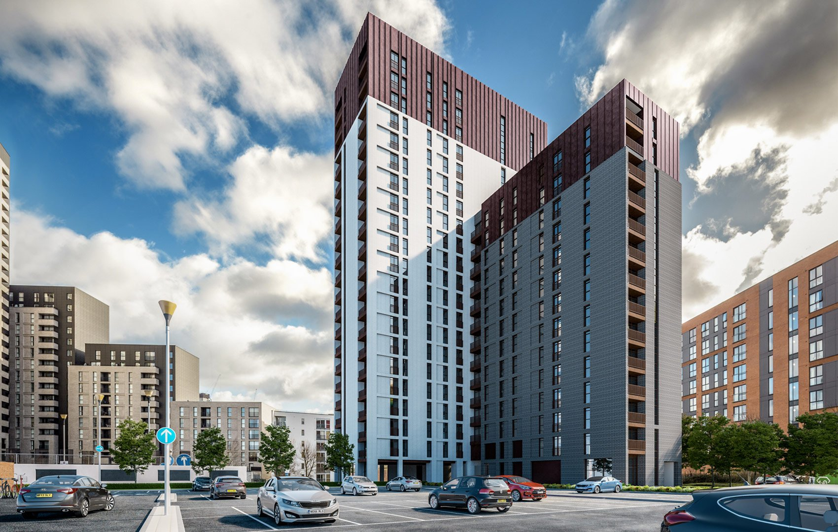 River Plaza, Derwent Street, Salford, No 1 Derwent Street, Salford, 3D Visual of exterior