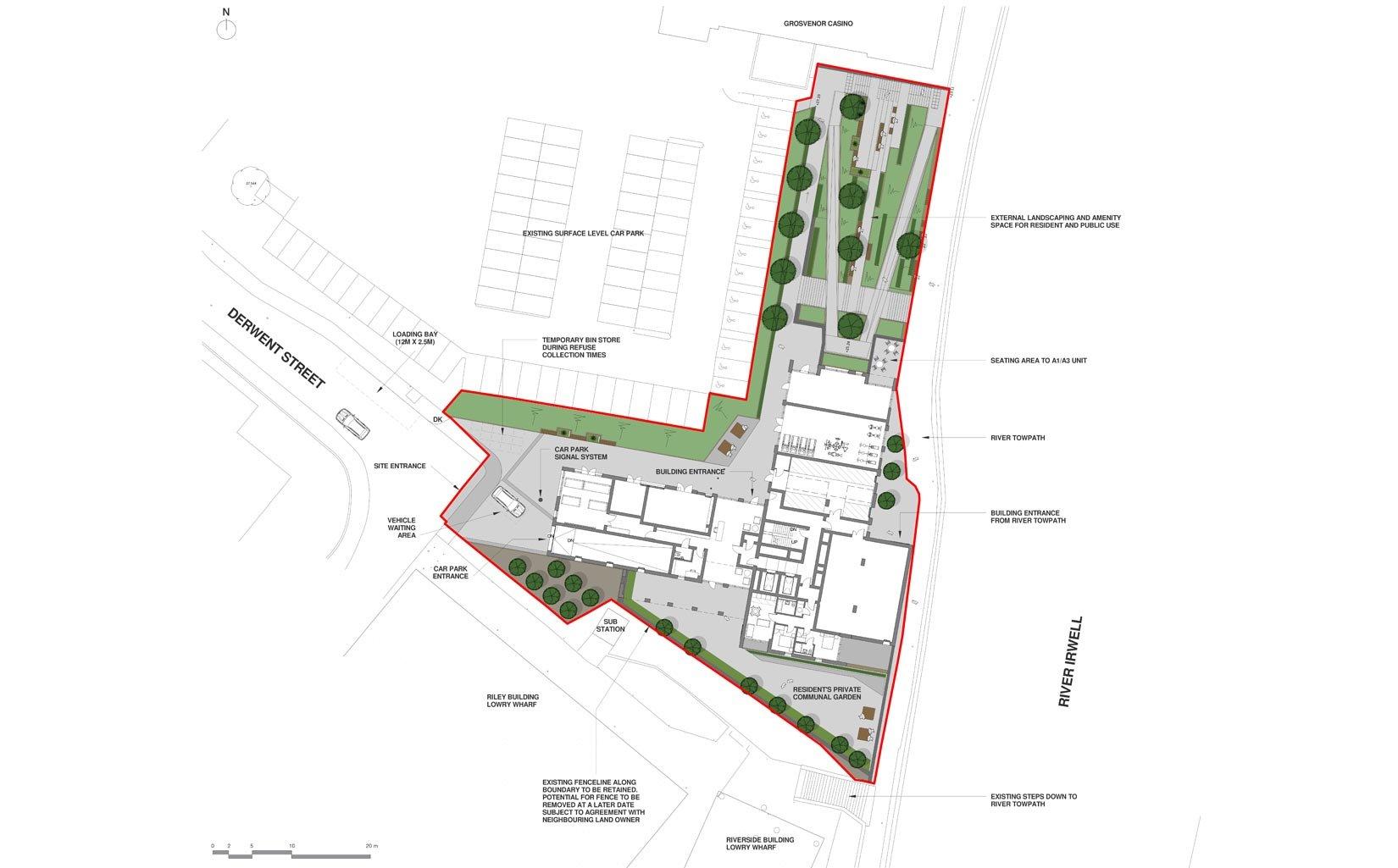 River Plaza, Derwent Street, Salford, Site Plan
