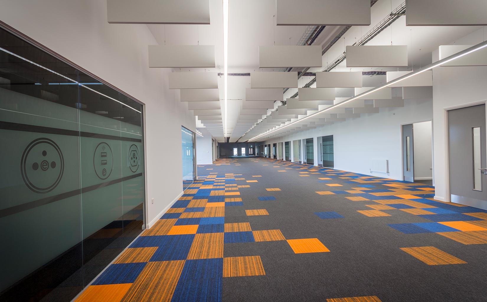 OE Electrics, Wakefield, Open plan office space