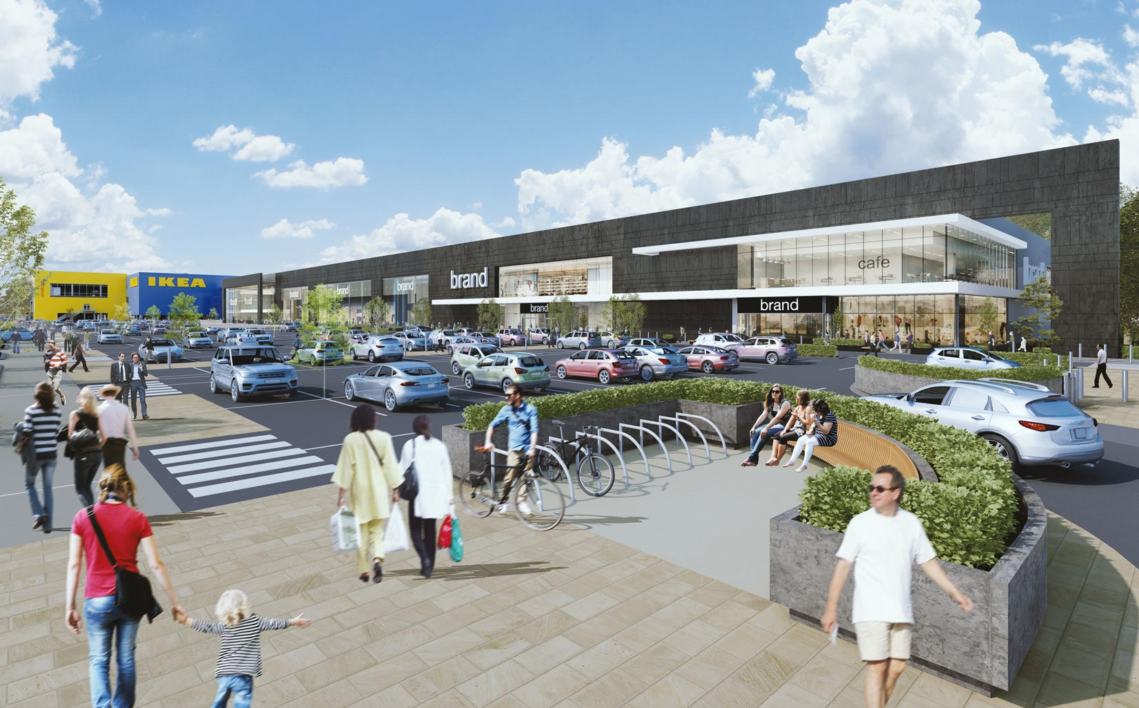 Shopping Park, Central Lancashire, 3D Visual of proposed IKEA Store & Retail Units