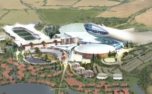 SnOasis, Suffolk, 3D Aerial Visual
