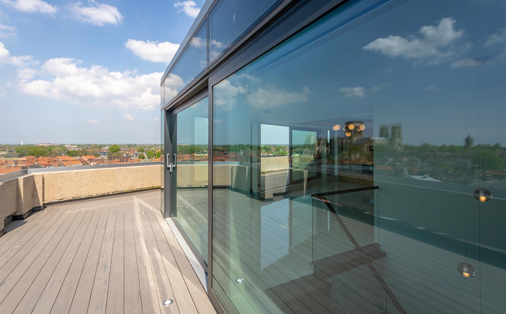 Stonebow House, York, Roof Terrace - Photograph © Oakgate Developments Plc