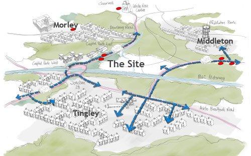 Tingley Station, Masterplan Sketch Plan