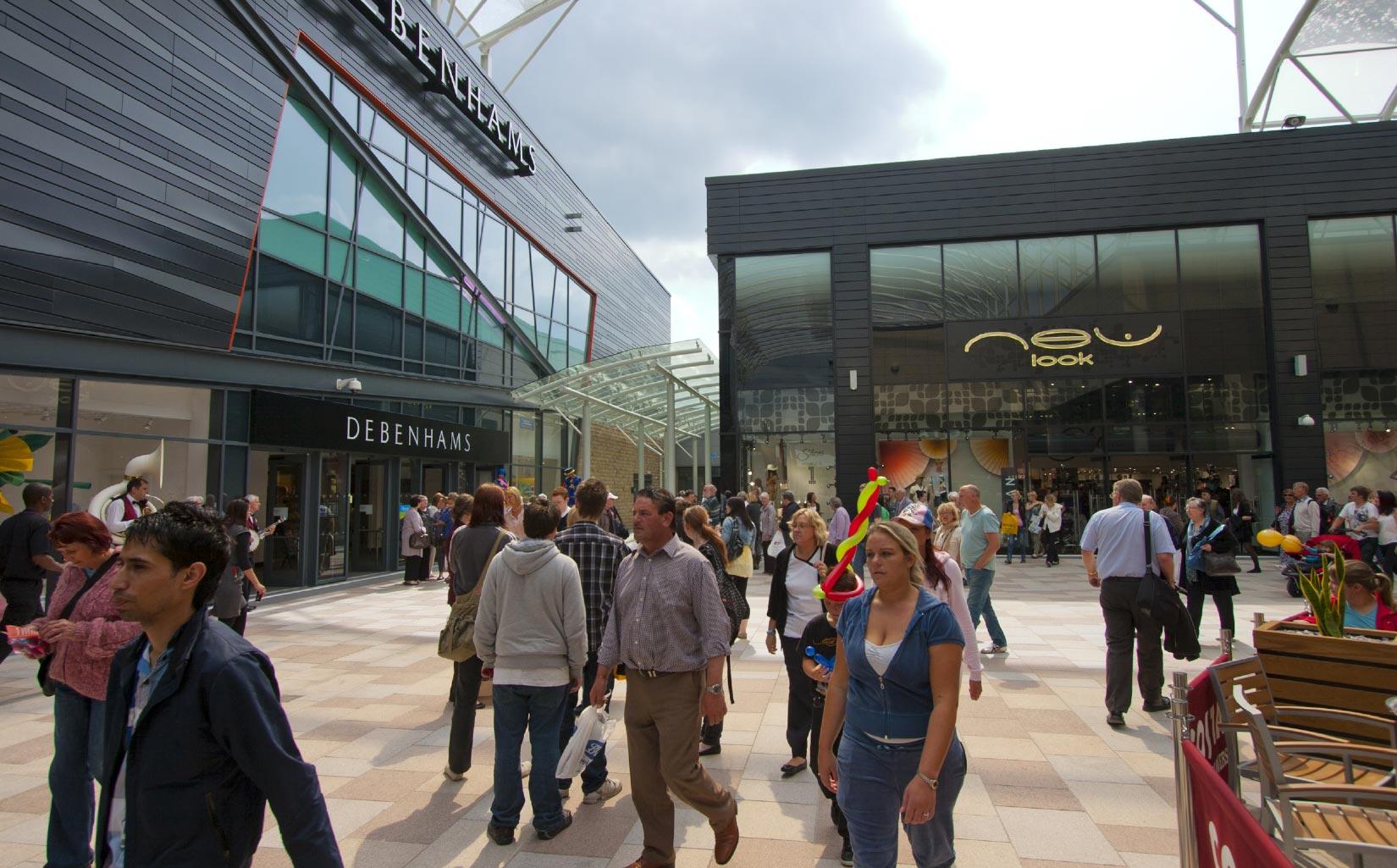 Trinity Walk, Wakefield, Debenhams and New Look