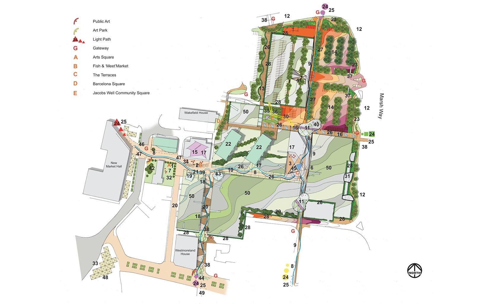 Trinity Walk, Wakefield, Concept Masterplan