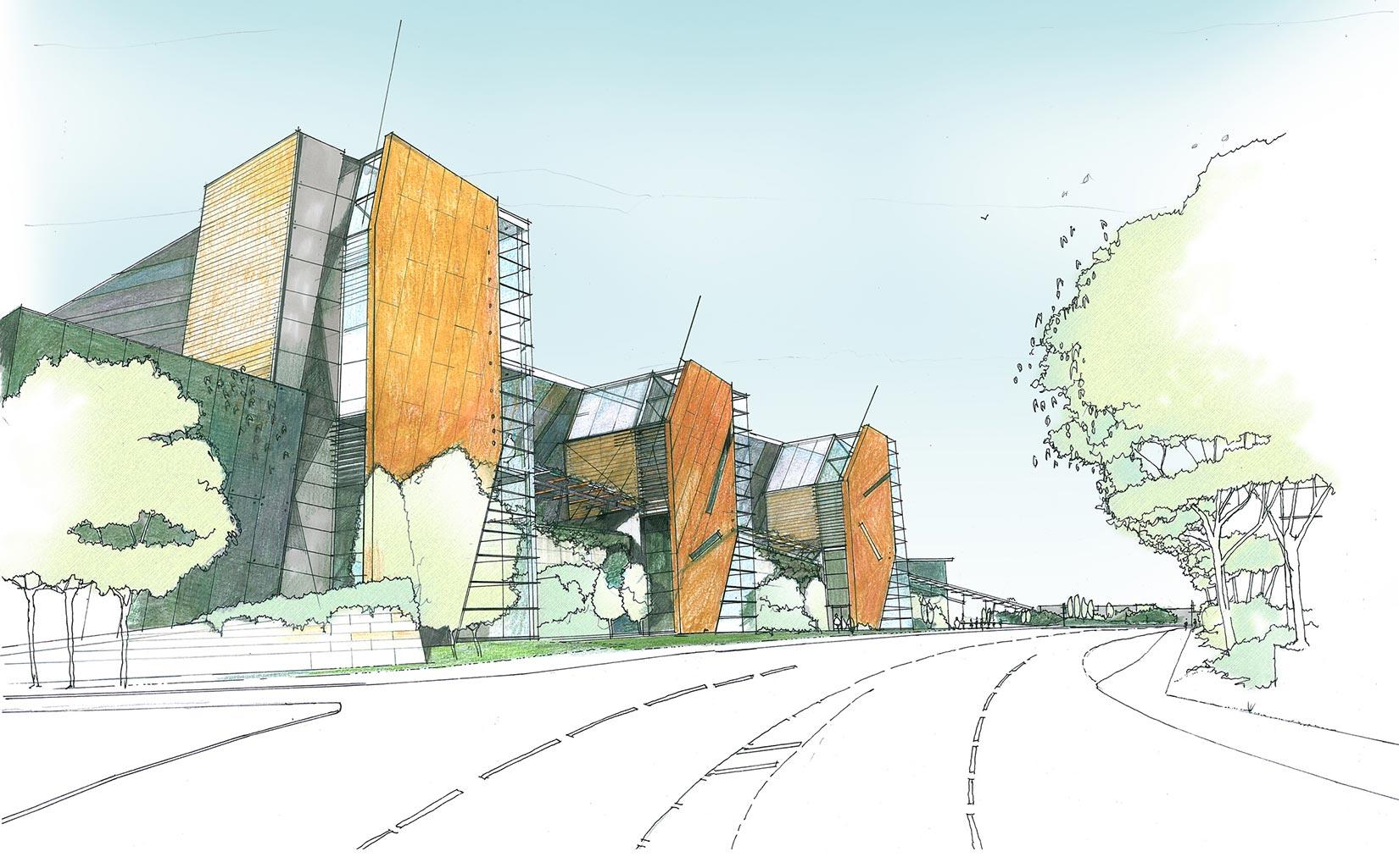Trinity Walk, Wakefield, Sketch Concept Sainsbury's