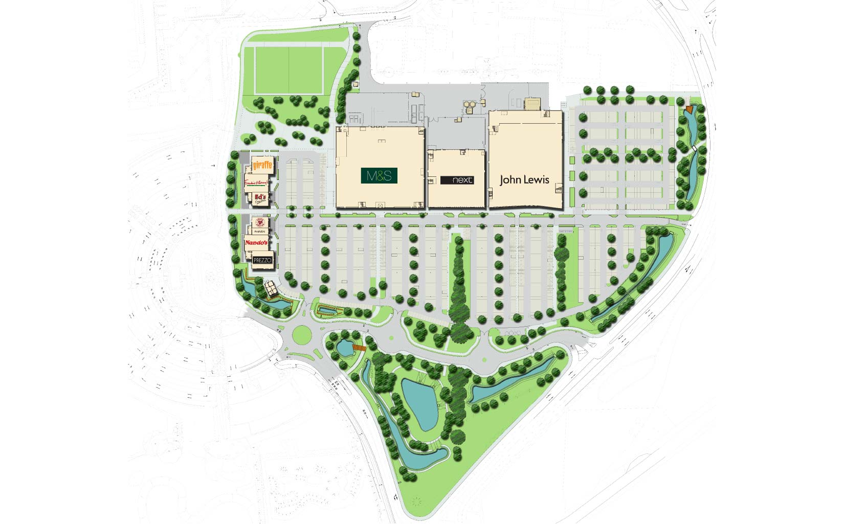 Vangarde Shopping Park, York, Masterplan