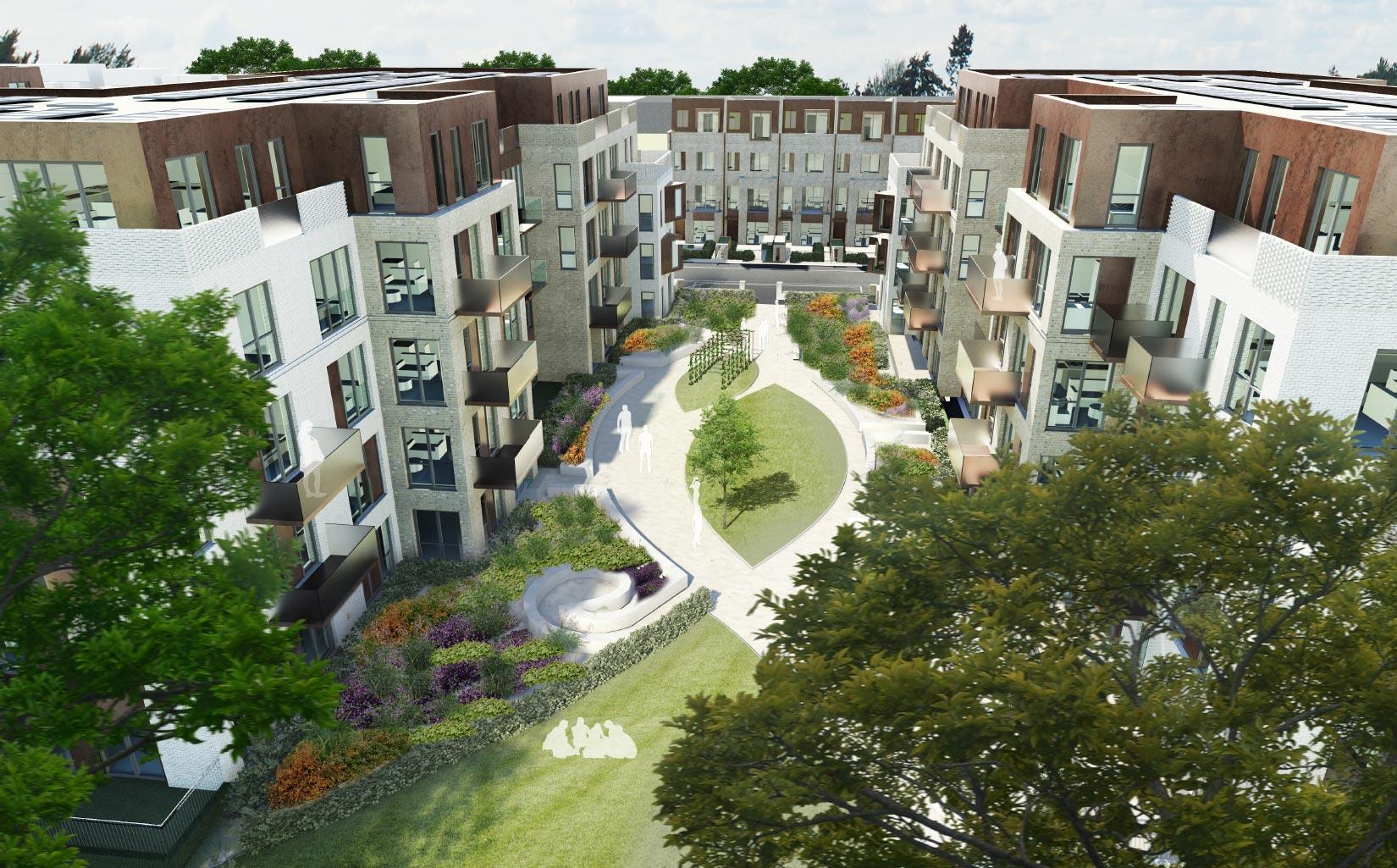 Victoria Quarter, New Barnet, London, 3D Aerial Visual