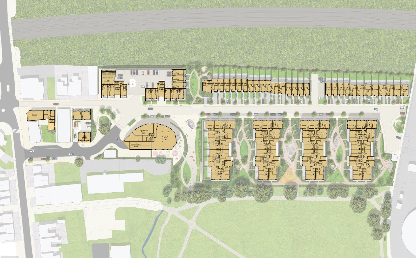 Victoria Quarter, New Barnet, London, Site Plan