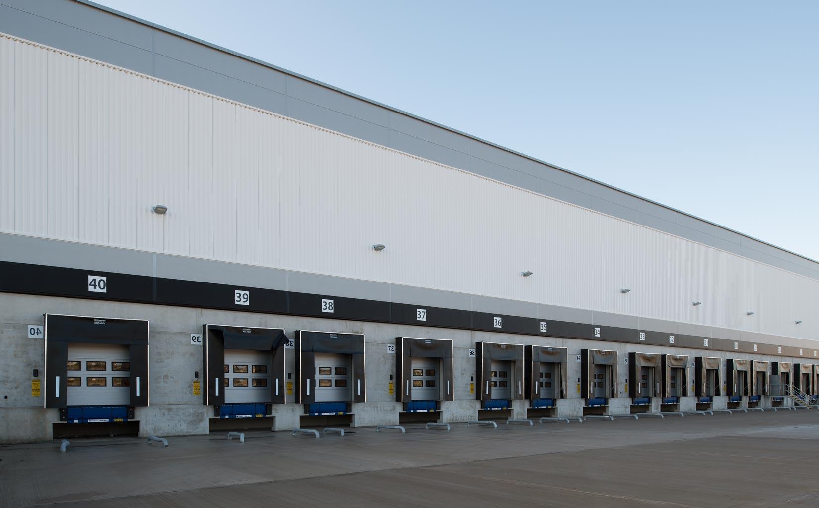 B & M Bargains Distribution Centre, Liverpool, Loading Bays