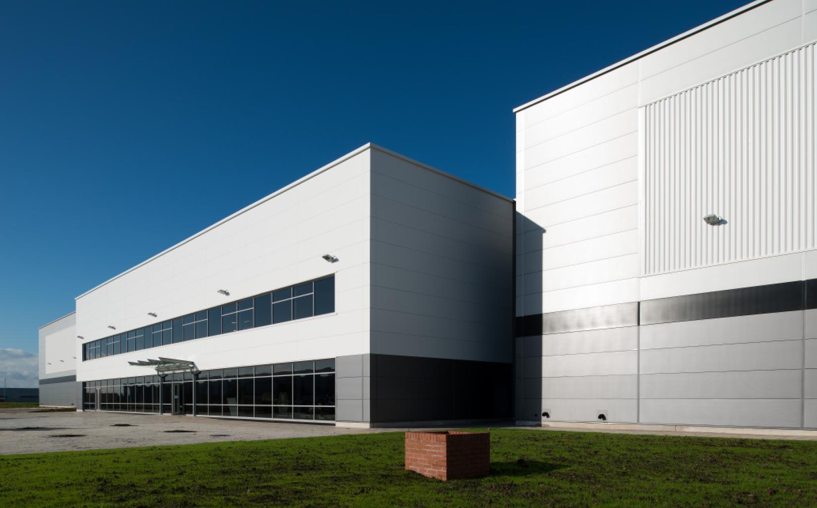 B & M Bargains Distribution Centre, Liverpool, Office Entrance