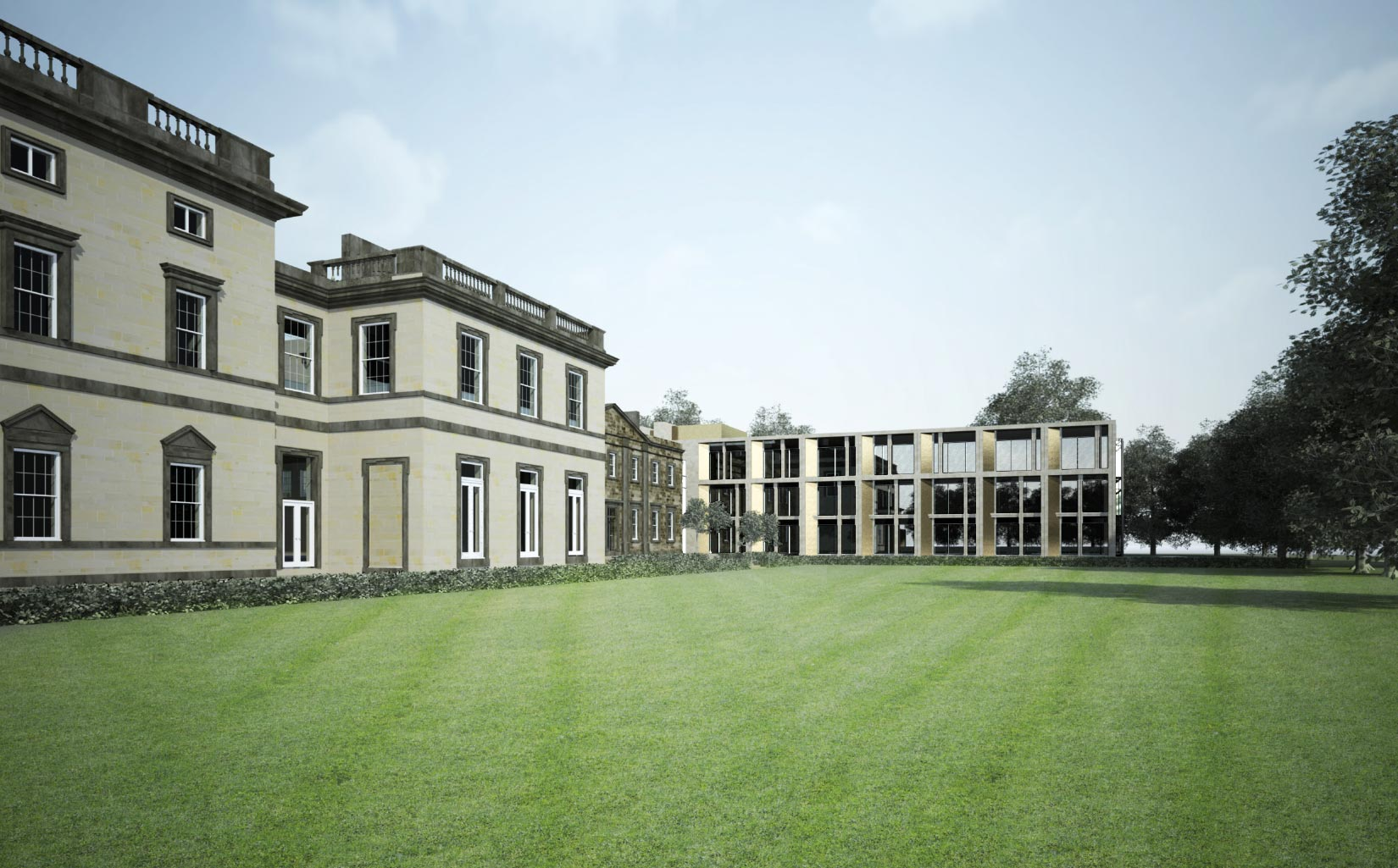 Bretton Hall Hotel, Wakefield, View from the gardens