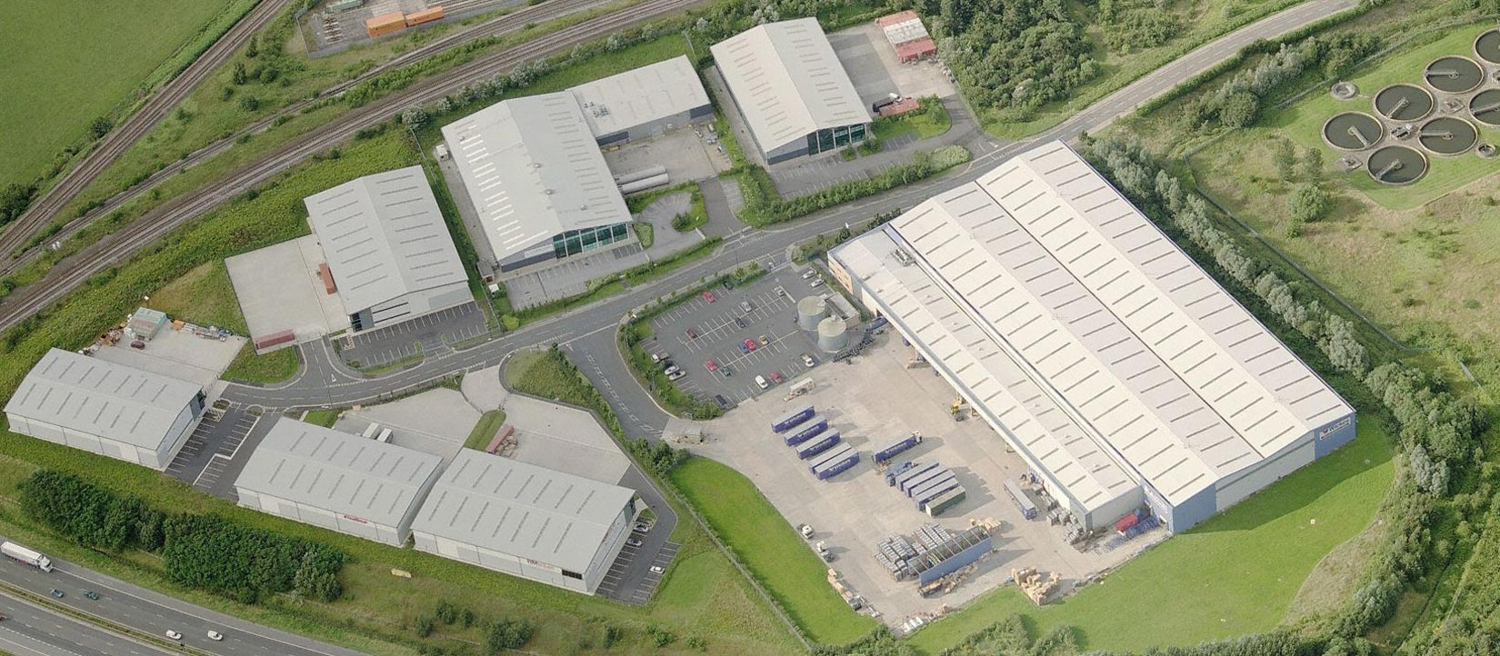 Europort, Wakefield, Aerial view of units