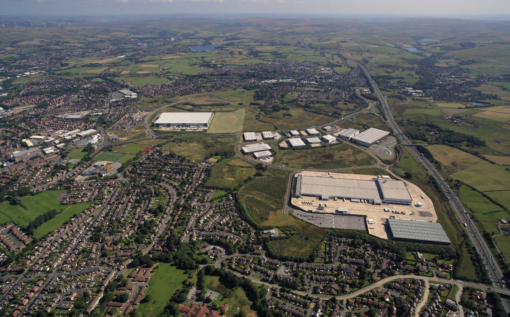 Kingsway Business Park, Milnrow, Rochdale, Aerial