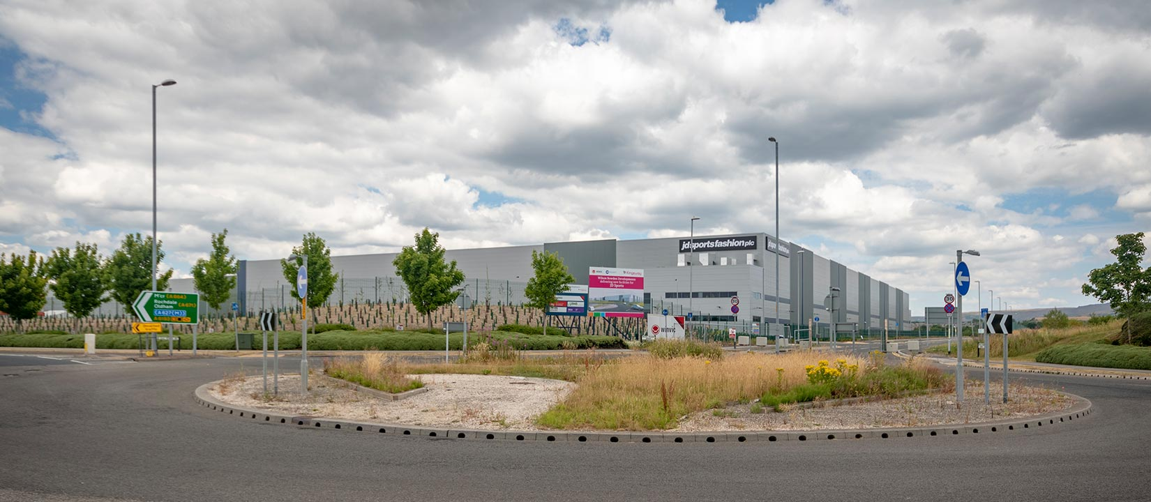 Kingsway Business Park, Milnrow, Rochdale, JD Sports Fasion approach