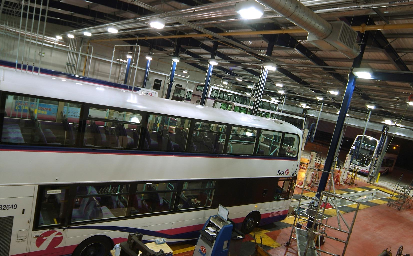 Abbey Park Road Bus Depot, Leicester, Bus Maintenance Facility
