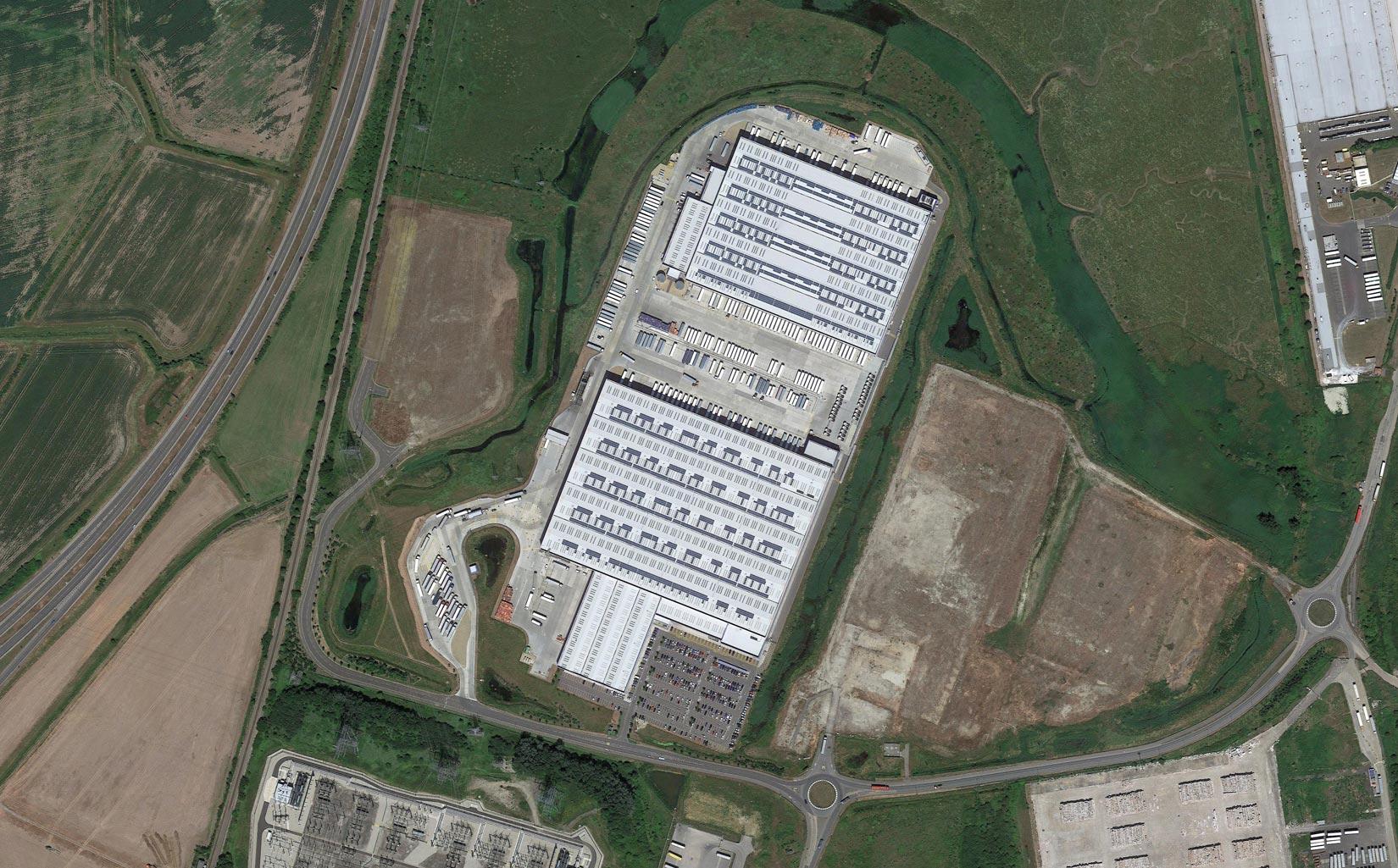 Morrisons Sittingbourne Distribution Centre, Aerial