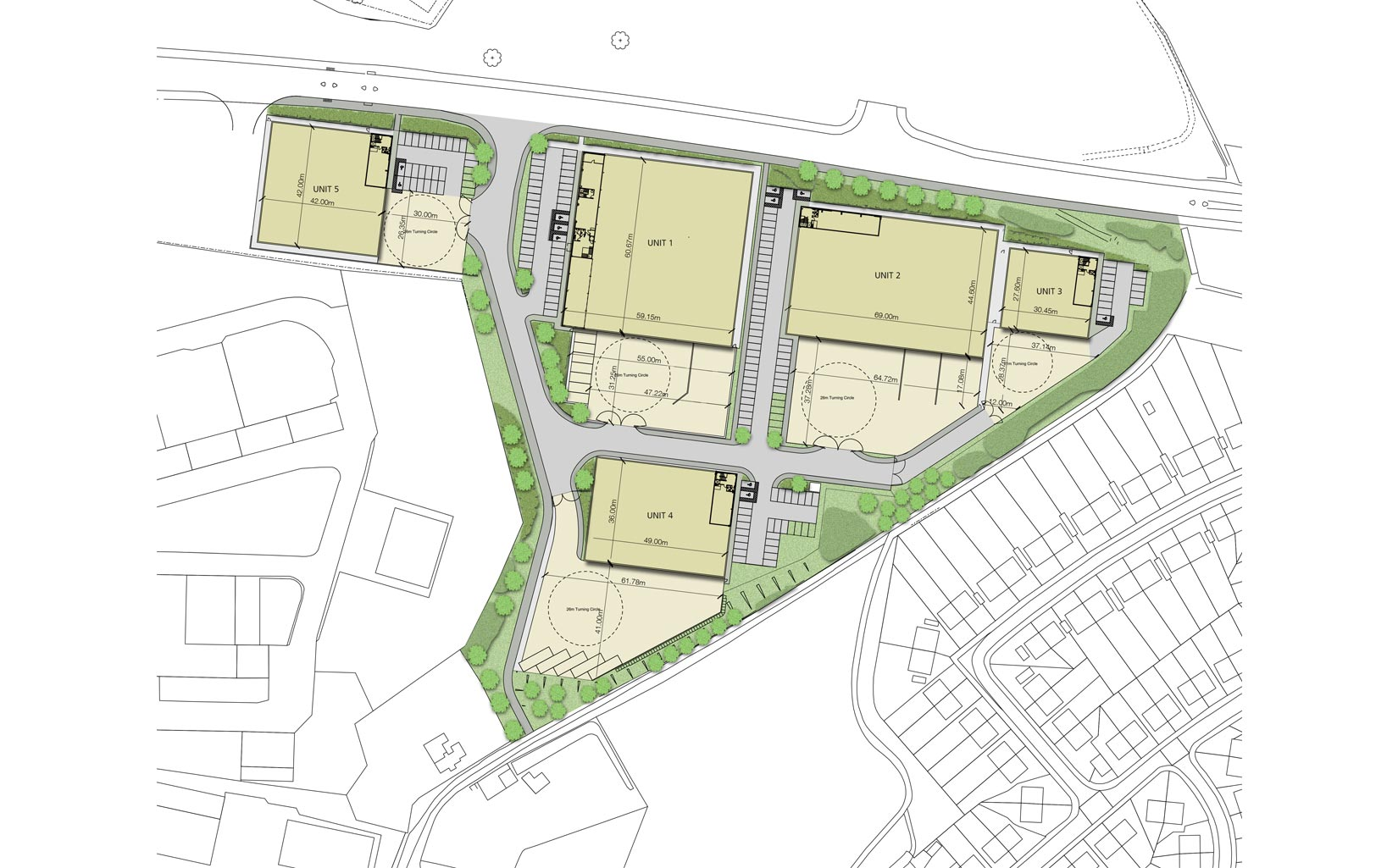 Tunstall Arrow, Stoke-on-trent, Site Plan