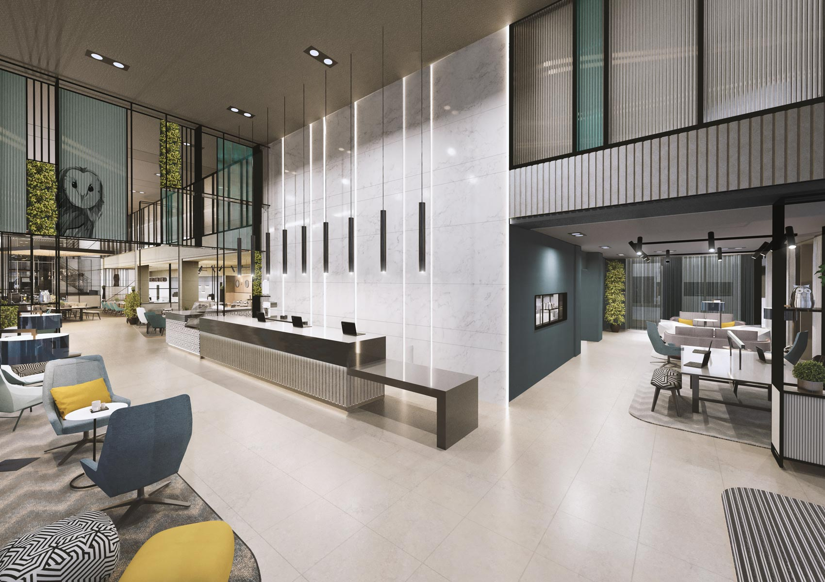 2 Sovereign Square, Leeds, 3D visual of the receotion