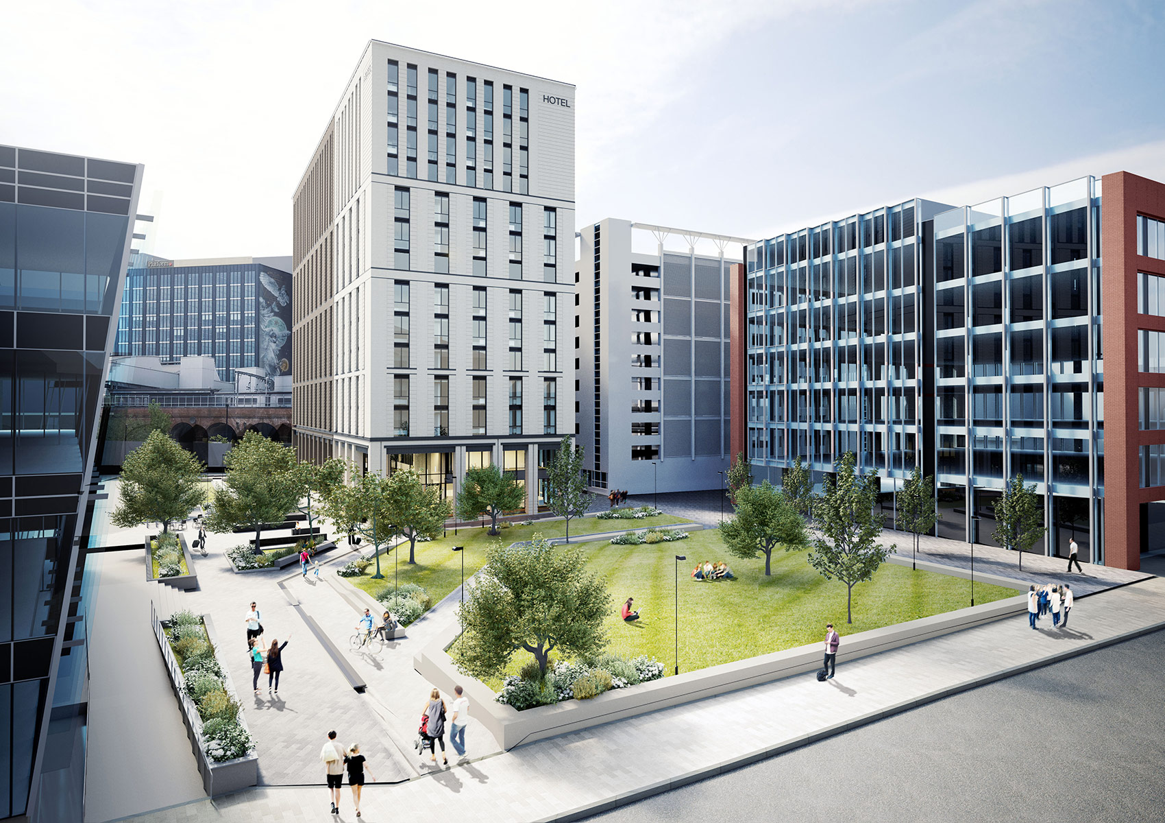 2 Sovereign Square, Leeds, 3D visual of approach to the hotel