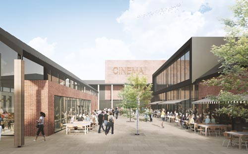 Churchill Way, Macclesfield, 3d visual of walkway