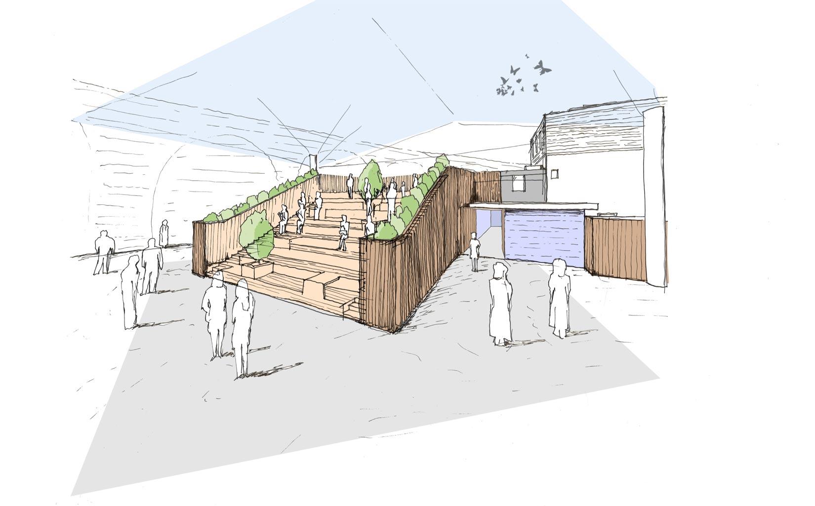 Jubilee Place, Borough Market, London, Sketch Concept