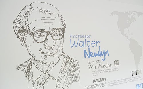 University of Leeds, Newlyn Building, Professor Walter Newlyn Biography Wall Graphics