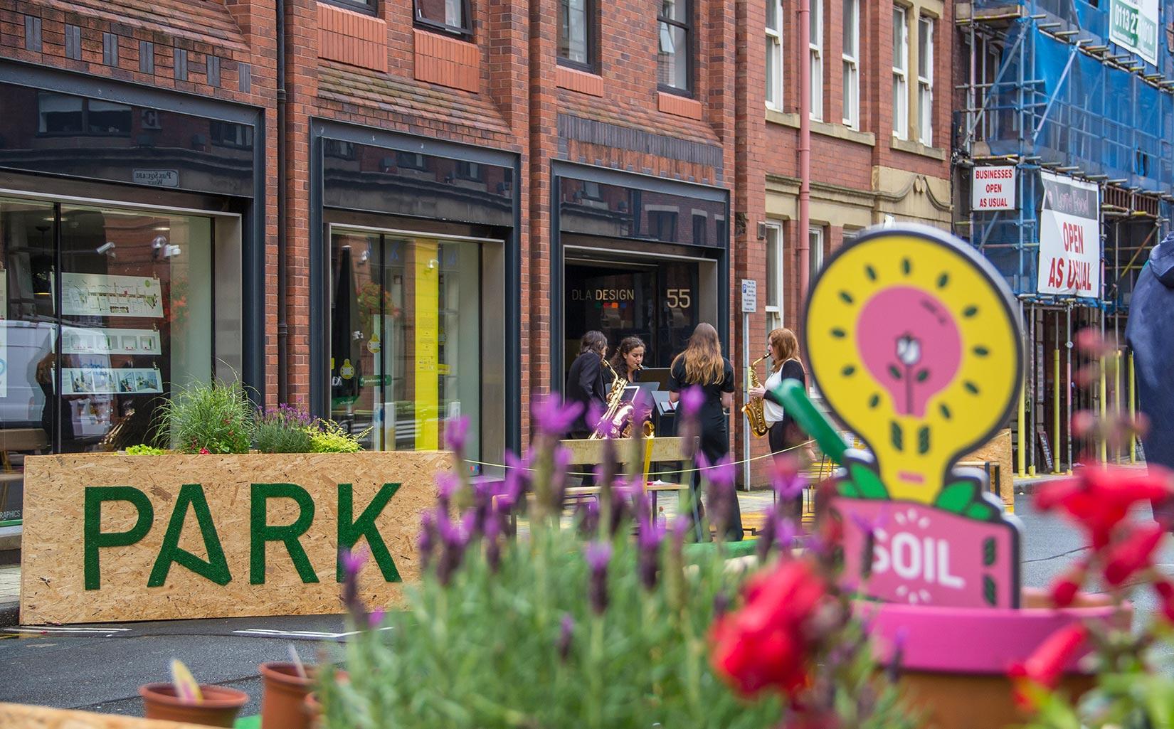 PARK HERE, Leeds, Music from the Aurous Saxophone Quartet