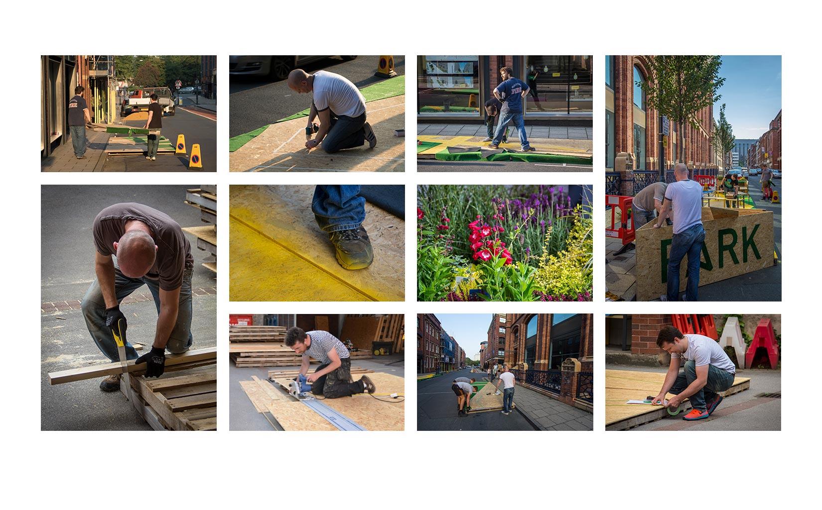 PARK HERE, Leeds, Construction