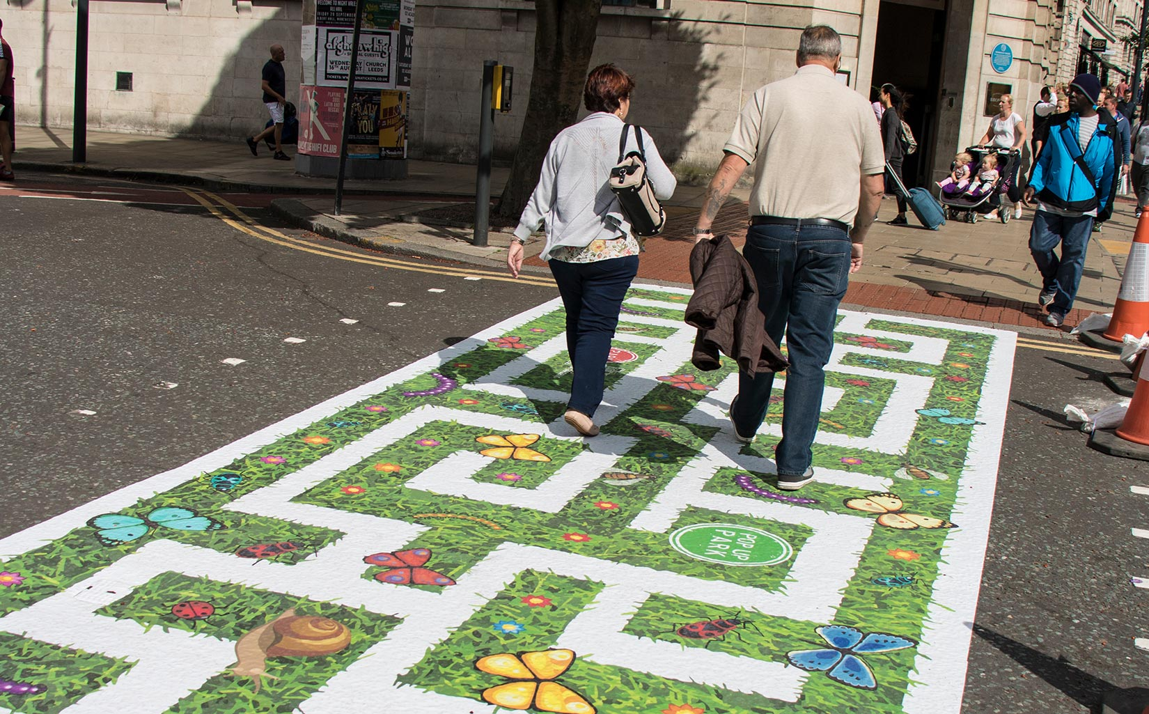 PARK HERE and Play, Leeds, Maze Crossing