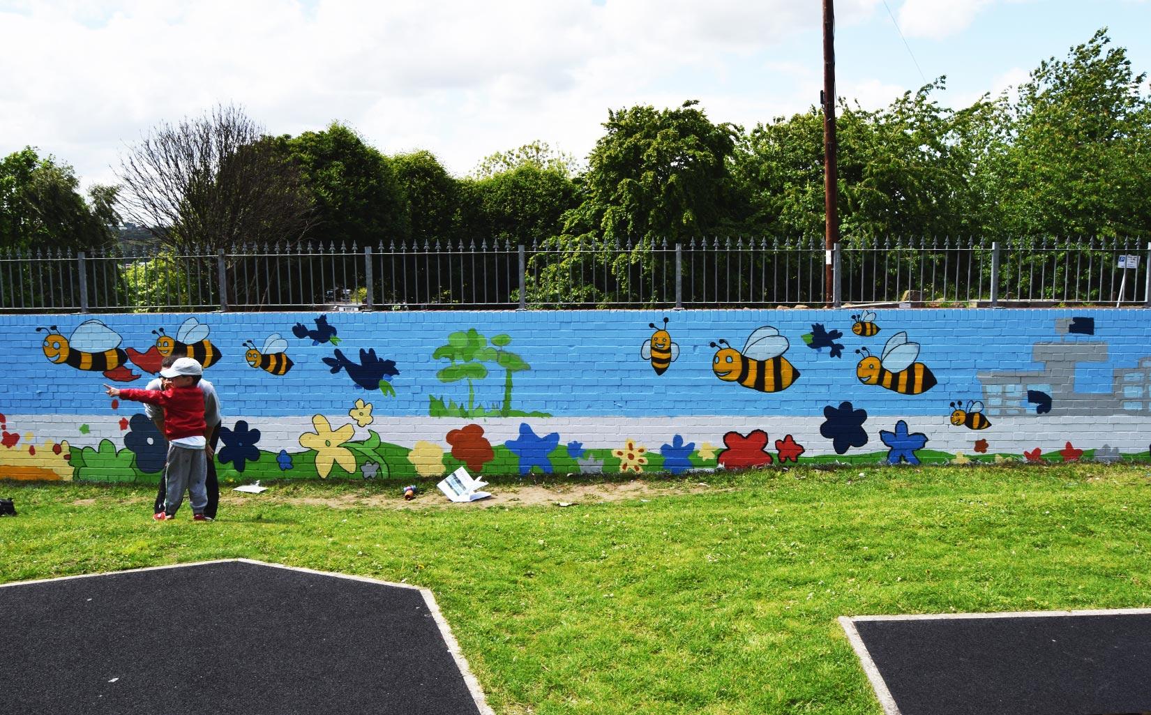 Women's Refuge, Leeds, Completed Mural
