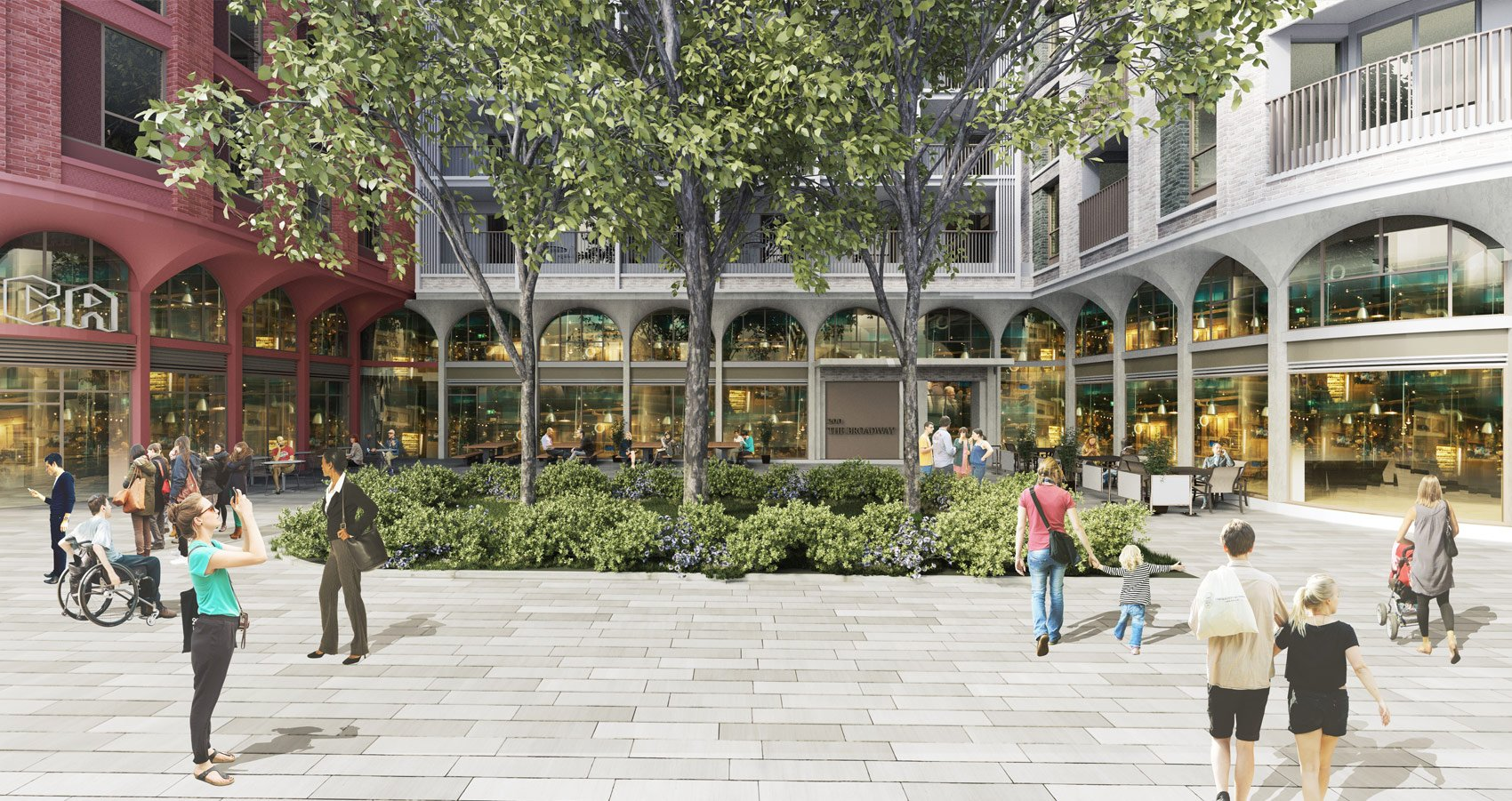 196-200 The Broadway, Wimbledon, View looking into the Courtyard