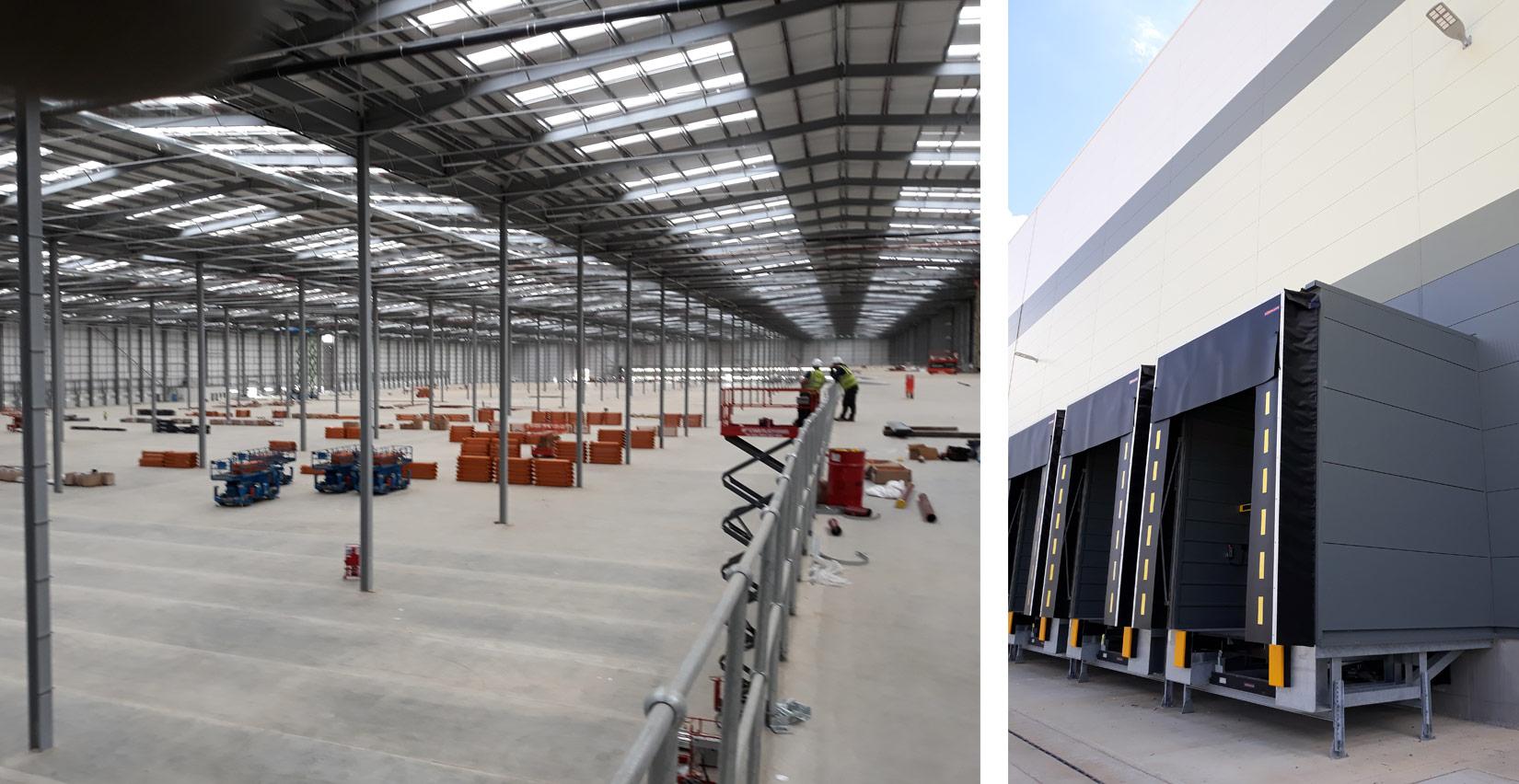 B & M Bargains Distribution Centre, Bedford, Onsite