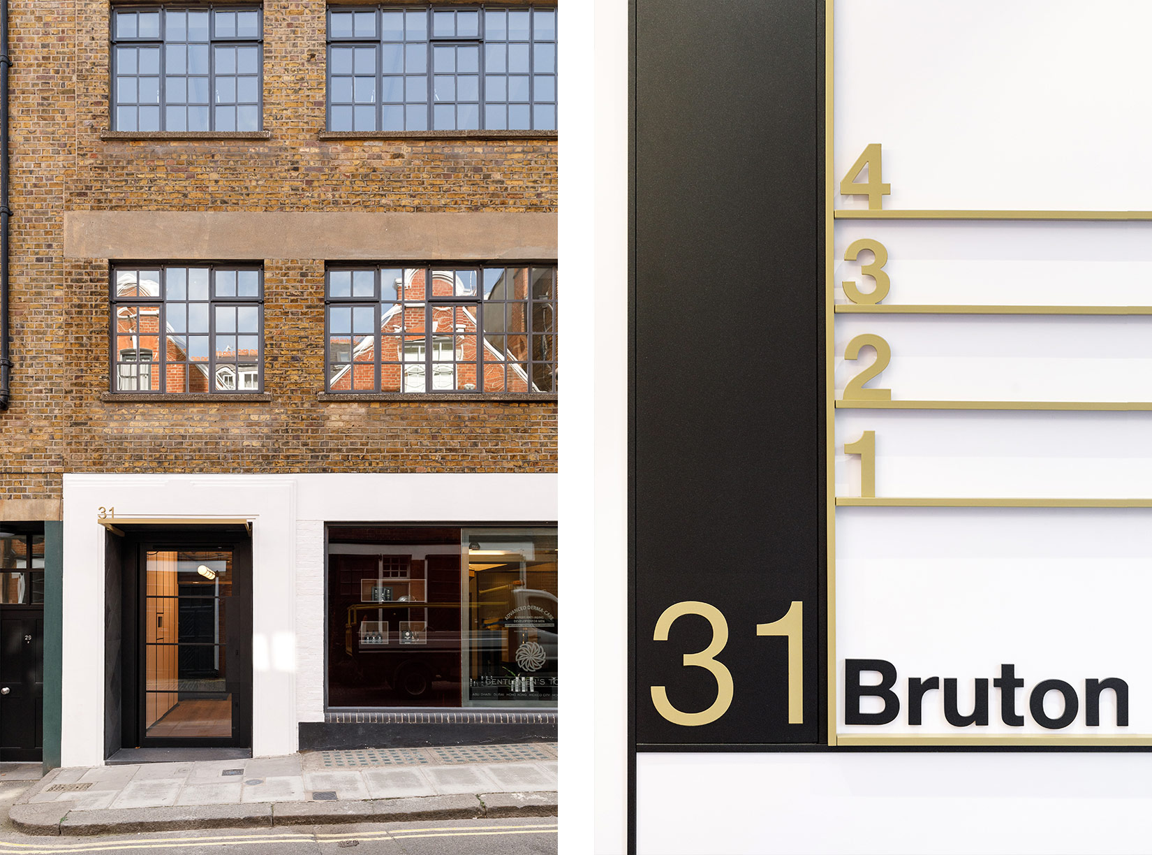 31 Bruton Place, London, Entrance