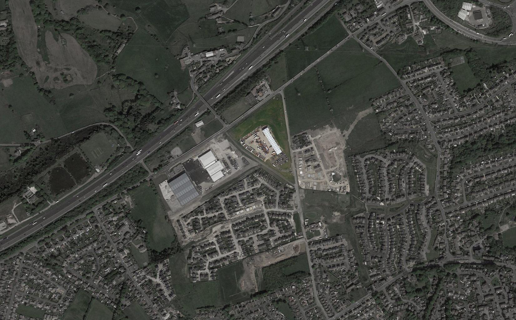 Macs Trucks, Lindley Moor, Huddersfield, Aerial