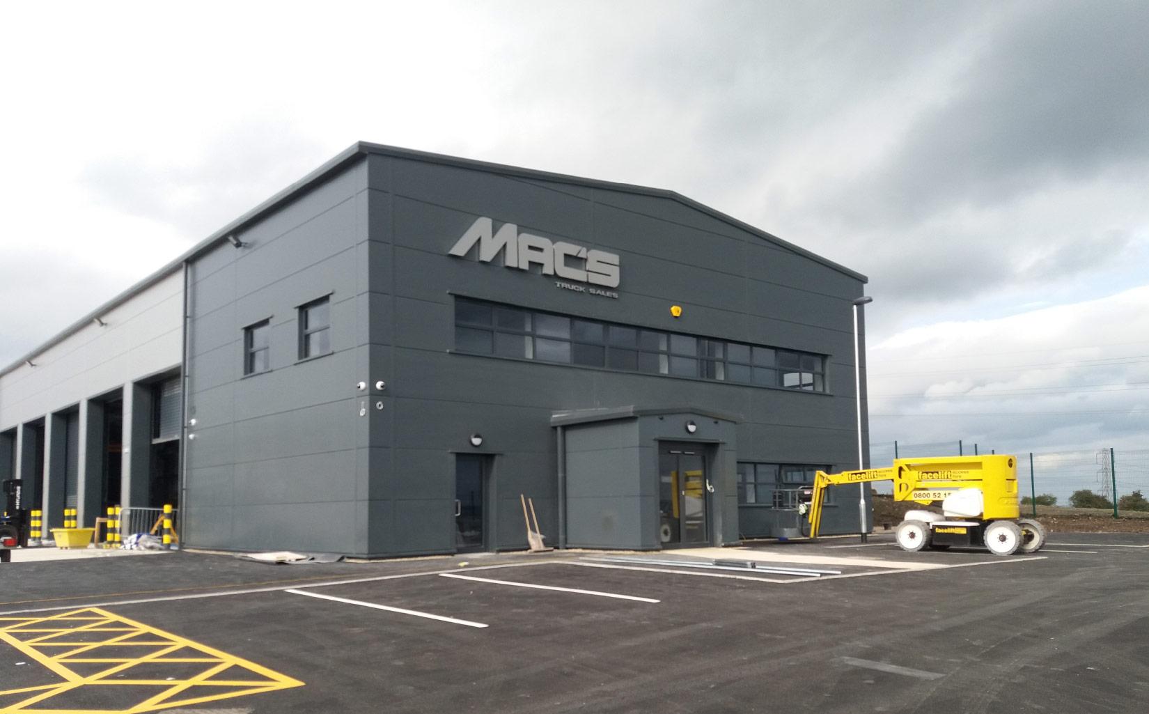 Macs Trucks, Lindley Moor, Huddersfield, Onsite