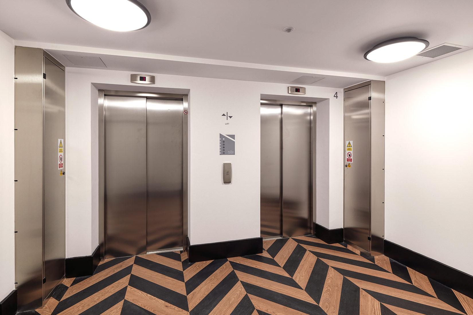Piano Apartments, Clapham, London, Lobby
