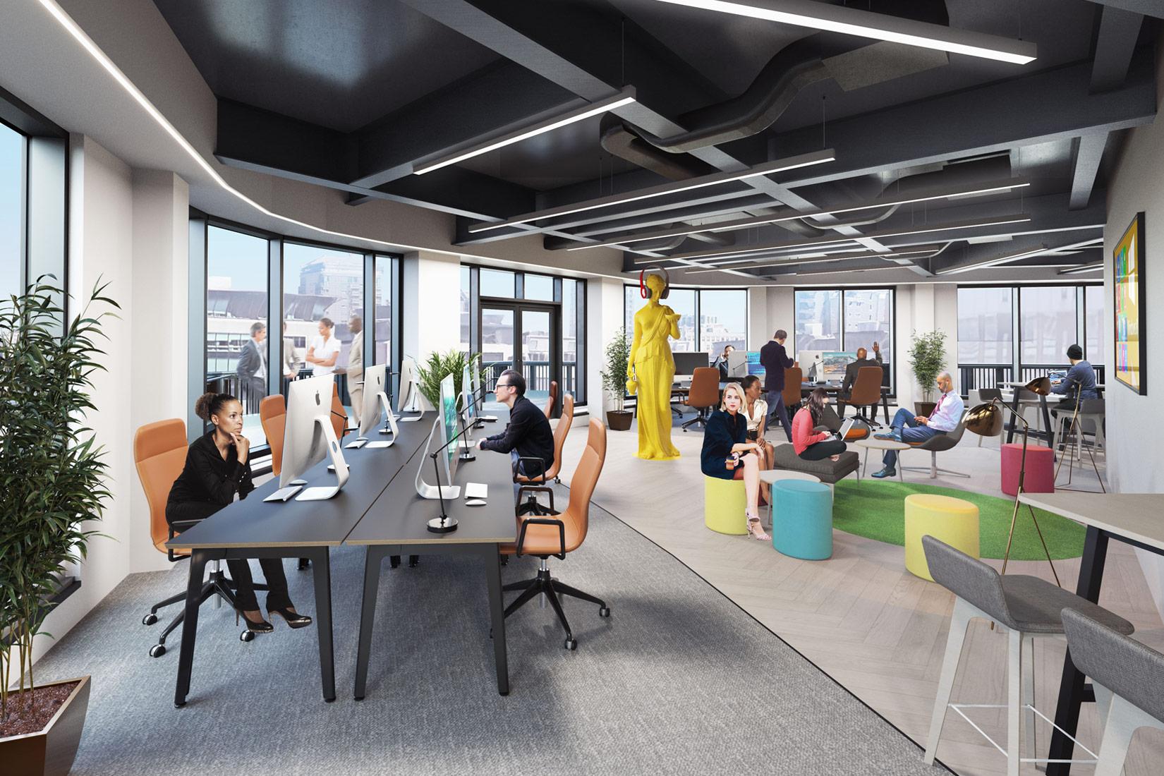 12 King Street, Leeds, 3D visual of office space